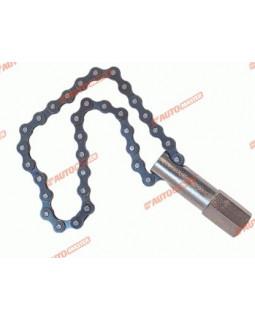 """Съемник фильтров 60-140мм цепной под вороток 1/2"""" или ключ 21мм Automaster"""