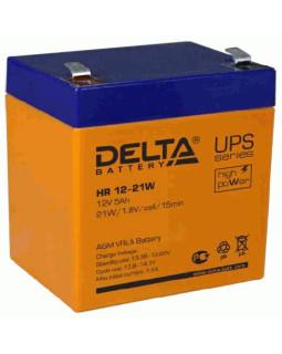 """Аккумулятор Delta 12В 5Ач (21W) (HR 12-21 W) для """"бесперебойников"""""""