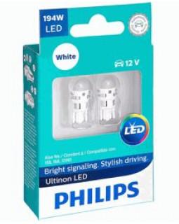 LED Автолампа W5W T10 12V Philips Ultinon Led 4000K светодиодная (блистер 2 шт)