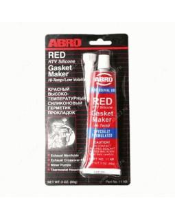 Герметик прокладка ABRO красный 85 гр