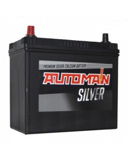 Аккумуляторная батарея 55 Ач AUTOMAN Азия Silver п/п (70B24R)
