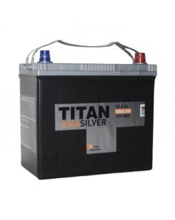 Аккумулятор 57 Ач ТИТАН Asia Silver (70B24L) о/п тонк.кл.