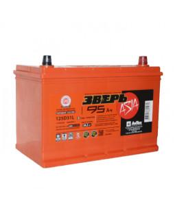 Аккумуляторная батарея 95 Ач ЗВЕРЬ Asia (125D31L) о/п
