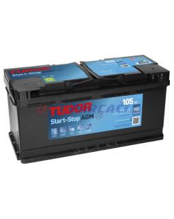 Аккумулятор 80 Ач Tudor о/п AGM (Старт - стоп) TK800 (950А д*ш*в 31,5*17,5*19,0 см)