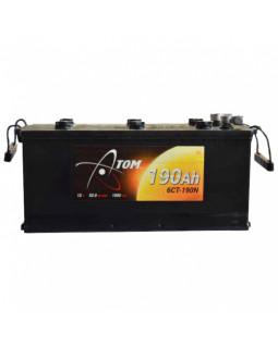 Аккумуляторная батарея 190 Ач Атом п/п (конус с доп.клеммами на болт)