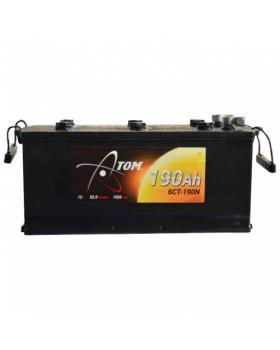 Аккумулятор 190 Ач Атом п/п (конус с доп.клеммами на болт)