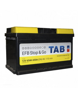 Аккумулятор 65 Ач Tab Magic Stop&Go EFB о/п (212065)