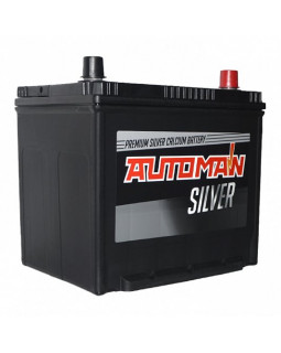 Аккумуляторная батарея 70 Ач AUTOMAN Азия Silver о/п (90D23L)