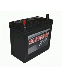 Аккумуляторная батарея 58 Ач AUTOMAN Азия Silver п/п (75B24R)