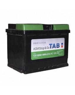 Аккумулятор 60 Ач Tab Ecodry AGM о/п