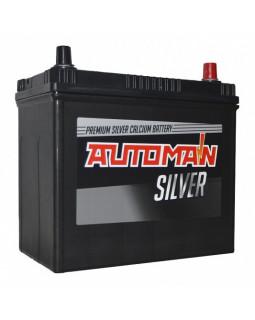 Аккумуляторная батарея 55 Ач AUTOMAN Азия Silver о/п (70B24L)