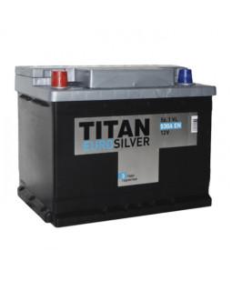 Аккумулятор 56 Ач Титан Euro Silver п/п