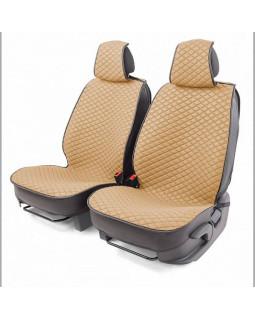 Накидки на сиденье Car Performance передние 2 шт fiberflax бежевые 10шт/уп CUS-2032 BE