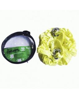 Трос 10т 5 м буксировочный динамический 2 крюка в пакете Green Star