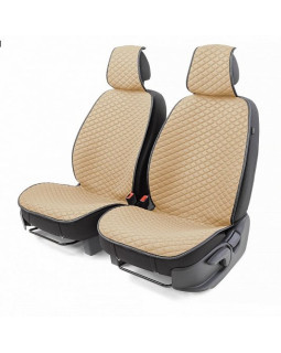 Накидки на сиденье Car Performance передние 2 шт fiberflax бежевые 12шт/уп CUS-1032 BE