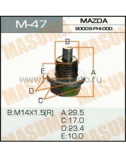 """Болт маслосливной Isuzu """"Masuma"""" M_47 14*1.5мм 30738* (с магнитом)"""