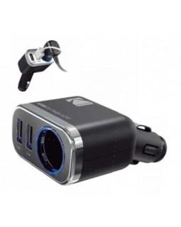 Автомобильное ЗУ USB*2 2,4А + прикуриватель KODAK Rapid UC107