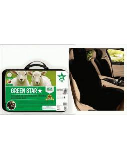 Меховая накидка на сиденье Green Star Premium черная