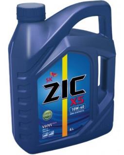 Масло моторное ZIC X5 Diesel SAE 10W40 (п/с, дизельное) 6л