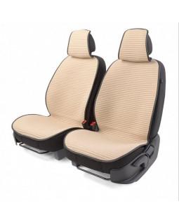 Накидки на сиденье Car Performance передние 2 шт fiberflax бежевые CUS-1042 BE