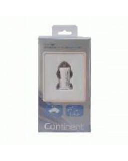 Автомобильное ЗУ USB 1А + кабель 8Pin iPhone 5/6/7/8/X Continent белый ZA10-191WT /Si1