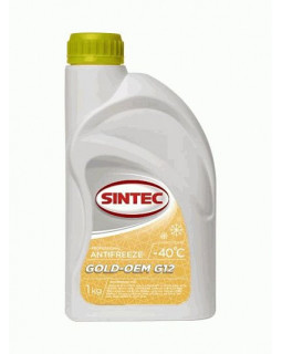 Антифриз Sintec -40 Gold-OEM 1кг G12 (желтый)