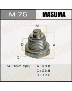 """Болт маслосливной Mitsubishi A/T AIRTREK.CU2W """"Masuma"""" M_75 18*1.5мм 40029 (с магнитом)"""
