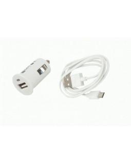 Автомобильное ЗУ USB 1А + кабель microUSB Continent белый ZA10-191WT /S1