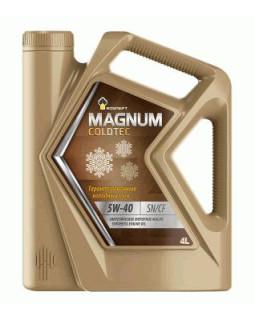 Масло моторное Rosneft Magnum Coldtec 5W40 синтетическое 4л