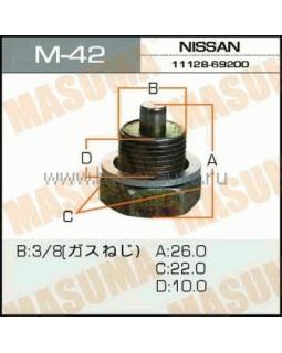 """Болт маслосливной Nissan """"Masuma"""" M_42 3/8 30737* (с магнитом)"""