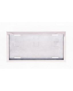 Рамка номерного знака квадратная NikAuto нержавеющая сталь 290*170