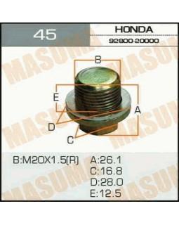"""Болт маслосливной Honda """"Masuma"""" Ms.b_45 20*1.5 мм 13583"""