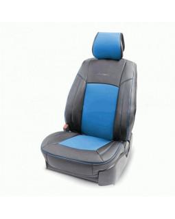 Накидка на сиденье AUTOPROFI каркасная экокожа HIT-310G BK/BL