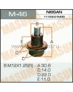 """Болт маслосливной Nissan """"Masuma"""" M_46 12*1.25мм 30736* (с магнитом)"""