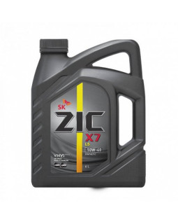 Масло моторное ZIC X7 LS SAE 10W40 синт 6л