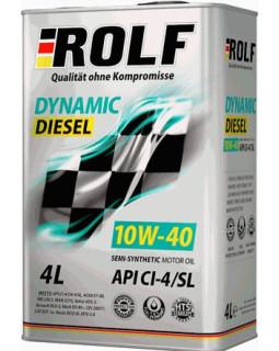 Масло моторное ROLF Dynamic Diesel (ROLF KRAFTON P5 U) 10W40 полусинтетическое 4л