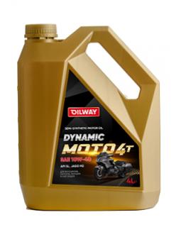 Масло моторное Oilway DYNAMIC MOTO 4T 10W40 полусинтетическое 4л