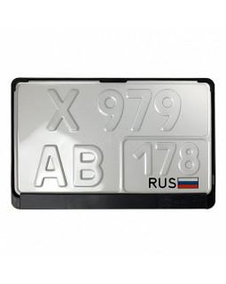 Рамка номерного знака квадратная 290*170 мм RA-1