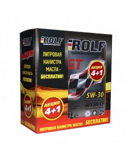 Масло моторное ROLF GT синт. 5W30 4+1 Акция 4 литра по цене 3 литров