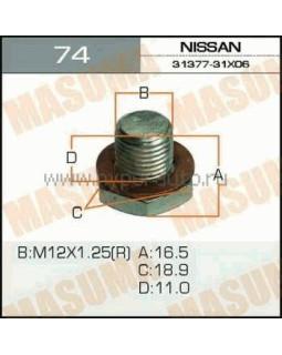 "Болт маслосливной Nissan A/T CUBE.Z11 ""Masuma"" Ms.b_74 12*1.25мм 40030"