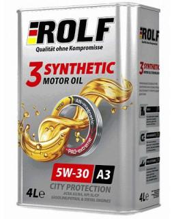 Масло моторное ROLF 3-SYNTHETIC SAE 5W30 синтетическое 4л